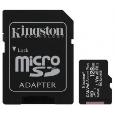 Карта памяти Kingston microSDXC 128GB Canvas Select Plus Class 10 UHS-I U1 V10 A1 SDCS2+подарок SD адаптер