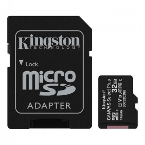Карта памяти Kingston microSDHC 32GB Canvas Select Plus Class 10 UHS-I U1 V10 A1 SDCS2+подарок SD адаптер