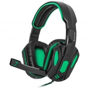 Наушники Defender Warhead G-275 Green Black (64122)