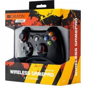 Геймпад Canyon CND-GPW6 Wireless PC/PS3/Android Black