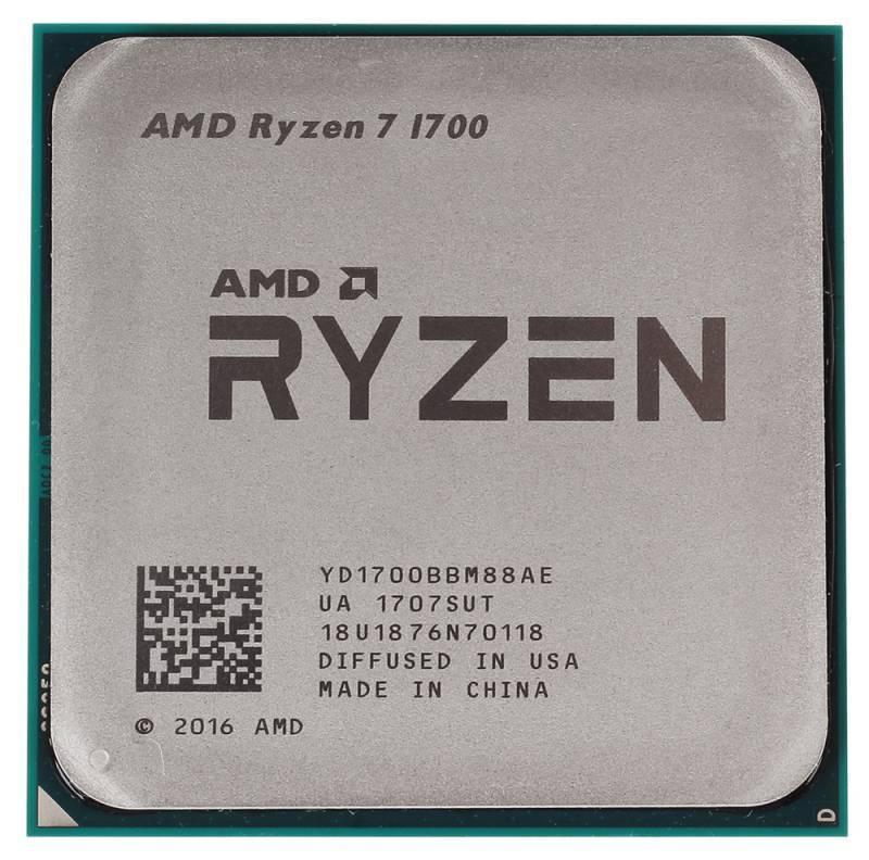 Процессор 8 ядер AMD Ryzen 7 1700 tray