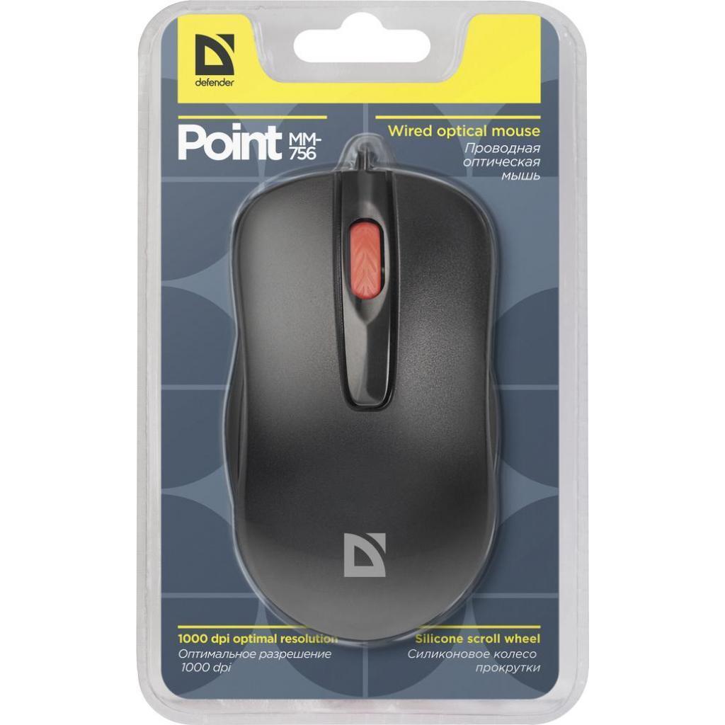 Мышка Defender Point MM-756 Black (52756)