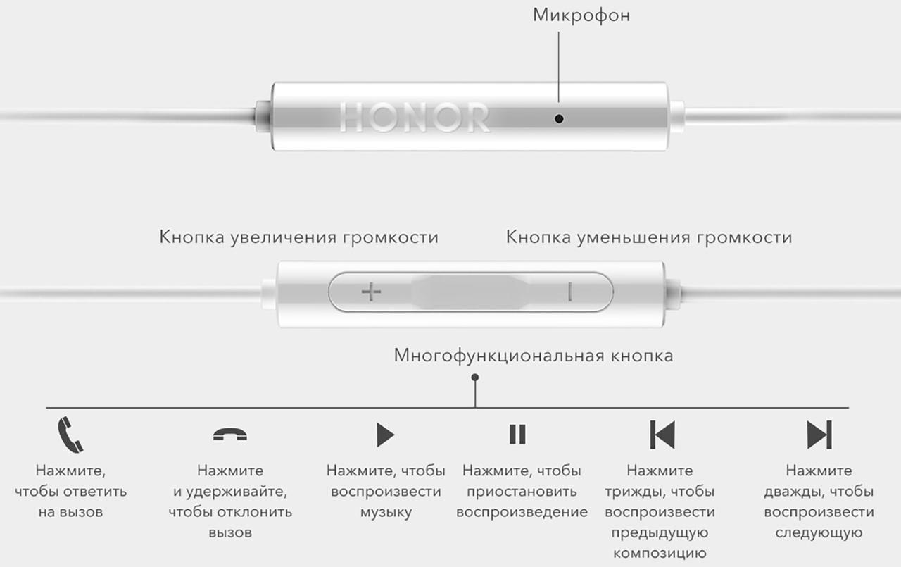 Наушники Huawei Honor AM115 Оригинальные Хуавей Хонор