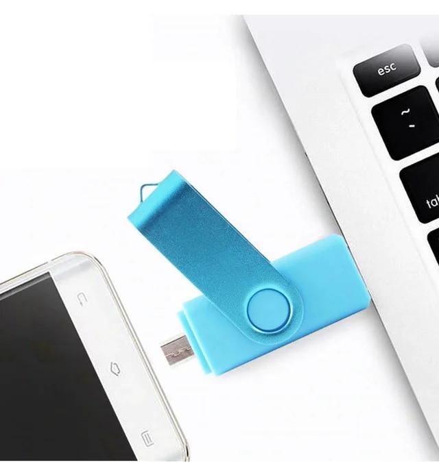 Флешка 64Gb с MicroUSB Накопитель USB