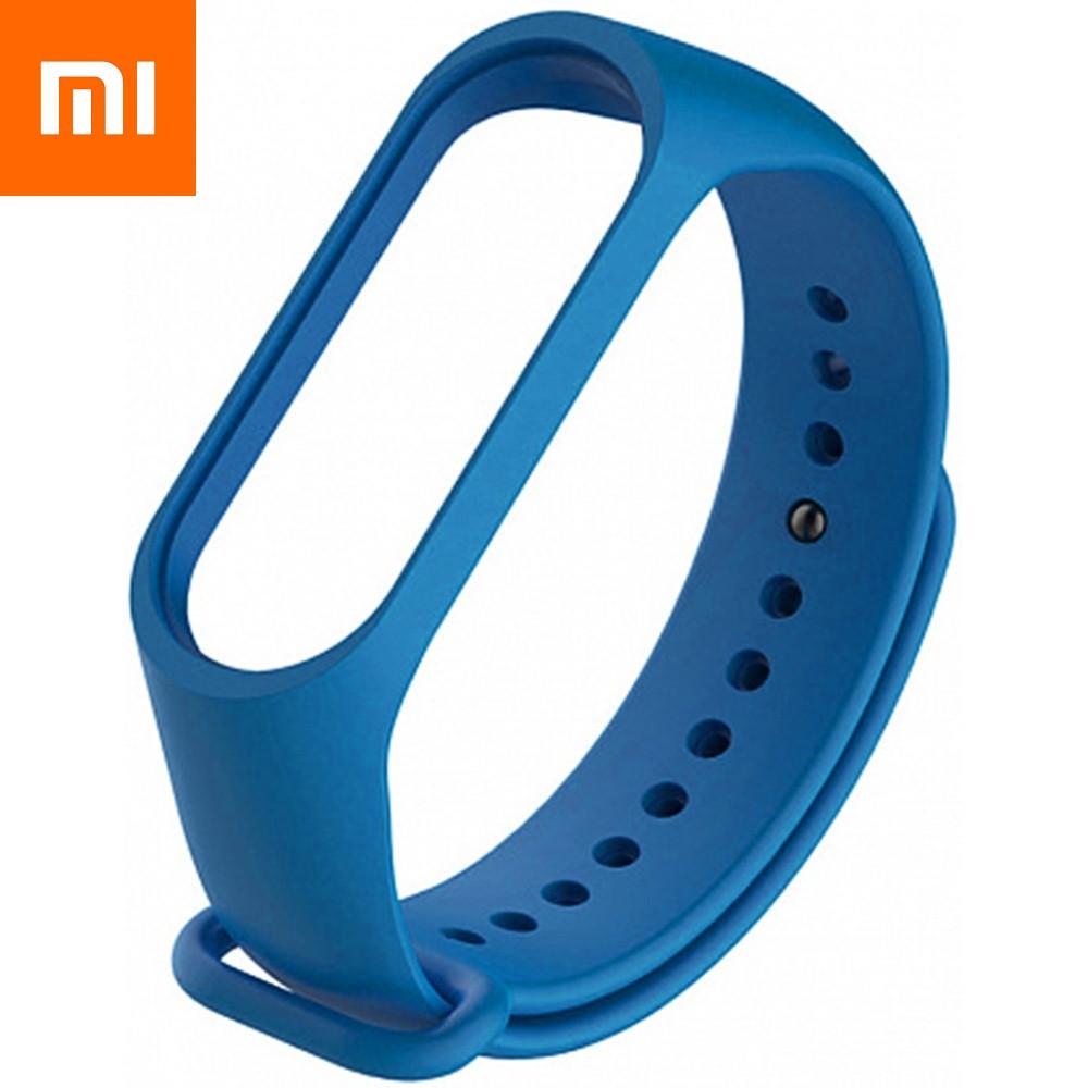 Ремешок для Xiaomi Mi Band 4 Синий Оригинальное Качество