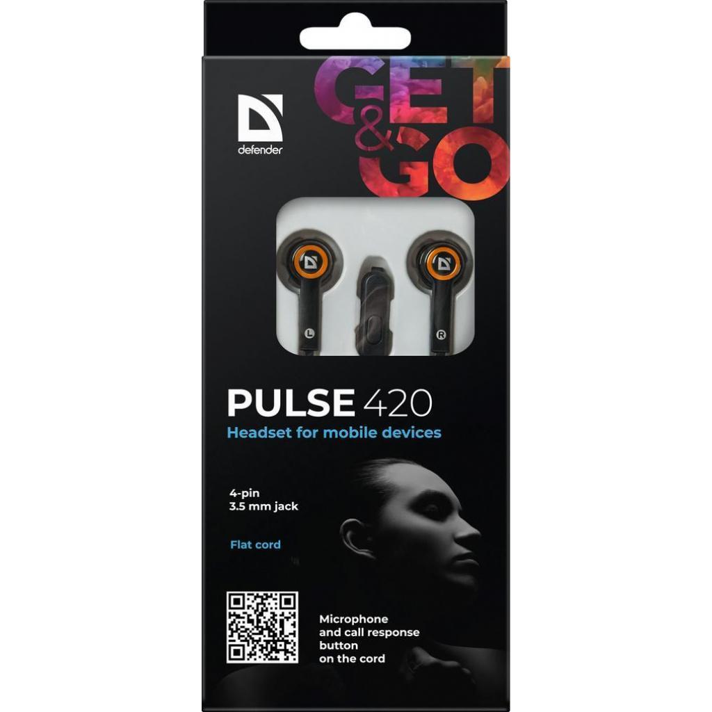 Наушники Defender Pulse 420 Orange (63420)
