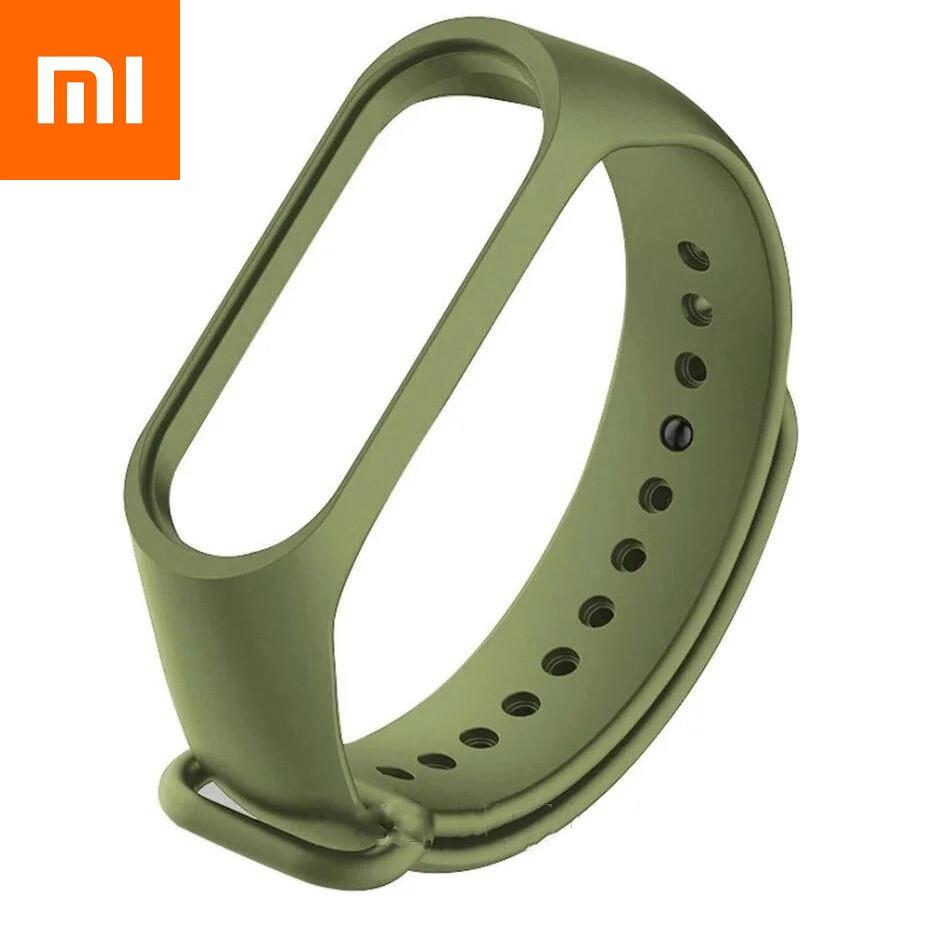 Ремешок для Xiaomi Mi Band 4 Khaki Оригинальное Качество Army Green