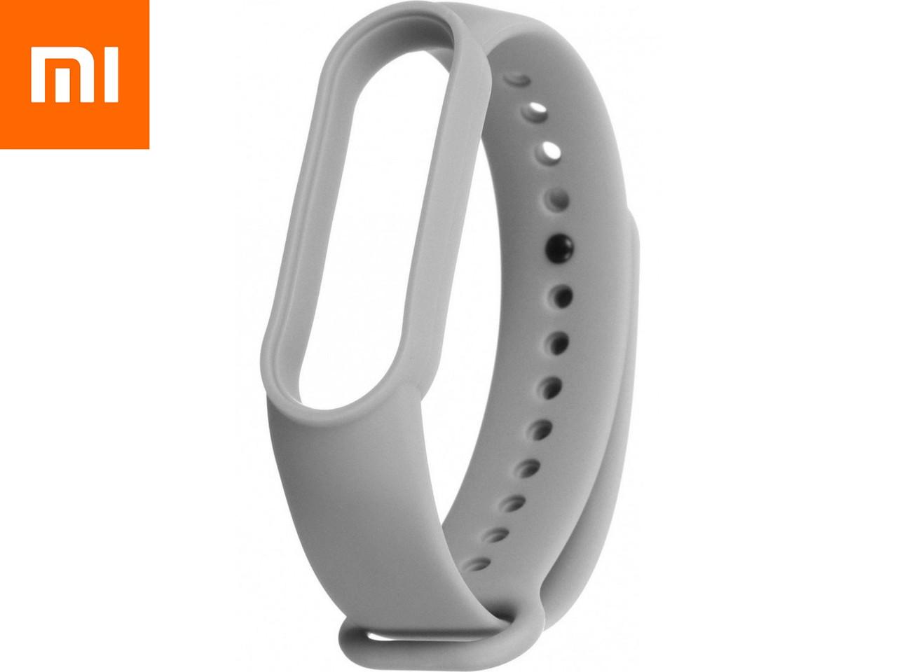 Ремешок для Xiaomi Mi Band 5 Серый Оригинальное Качество Light Grey