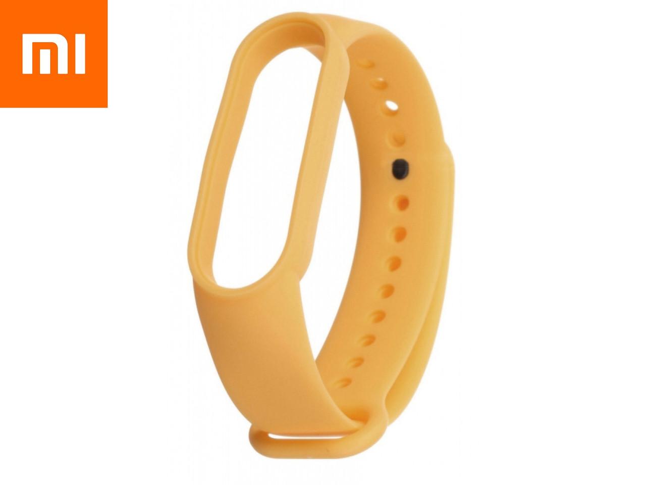 Ремешок для Xiaomi Mi Band 5 Желтый Оригинальное Качество Yellow
