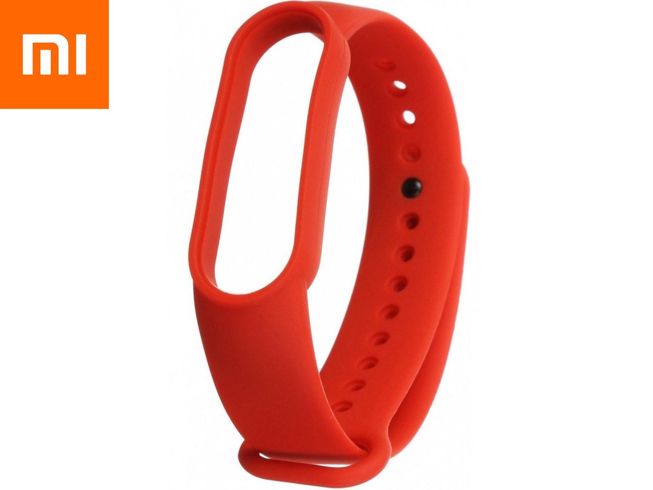 Ремешок для Xiaomi Mi Band 5 Красный Оригинальное Качество Red Flame