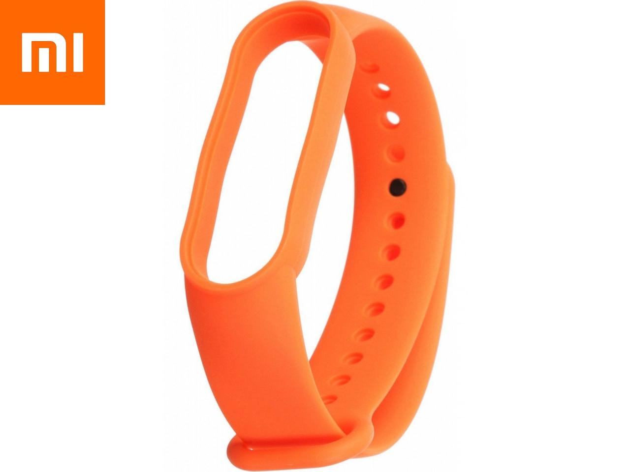 Ремешок для Xiaomi Mi Band 5 Оранжевый Оригинальное Качество Orange