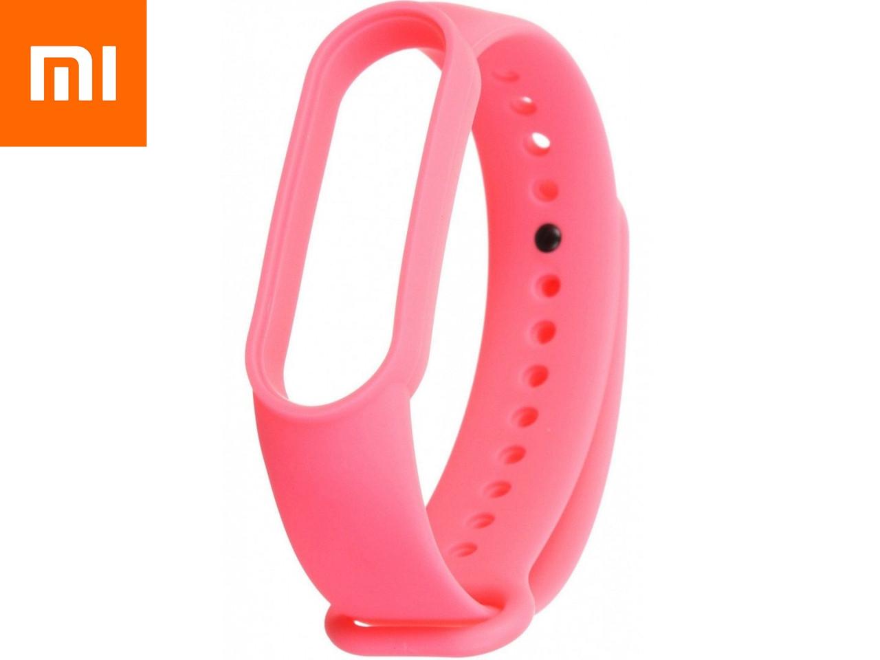 Ремешок для Xiaomi Mi Band 5 Розовый Оригинальное Качество Hot Pink