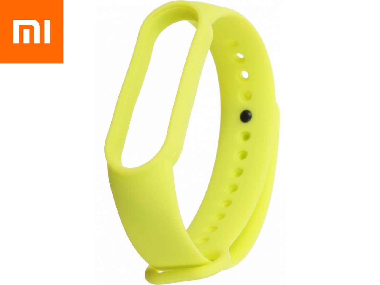 Ремешок для Xiaomi Mi Band 5 Зеленый Лайм Оригинальное Качество Green Lime