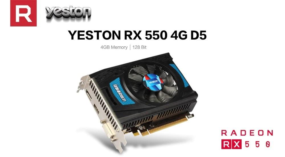Видеокарта AMD Radeon RX 550 4Gb Yeston